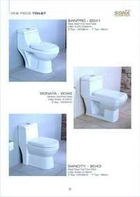 one piece ceramic toilets