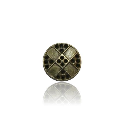 Silver Circular Metal Button