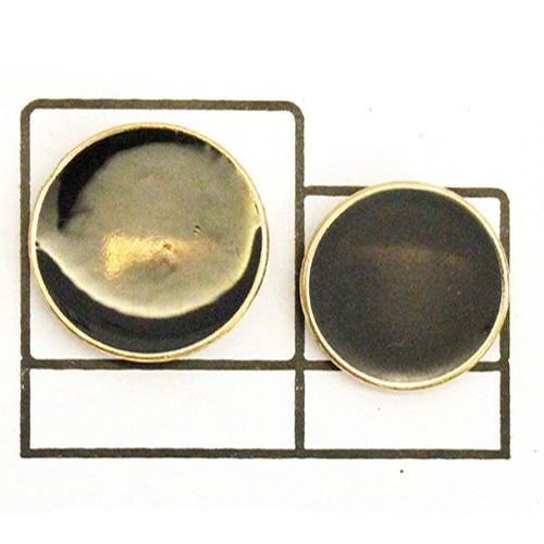 Designer Black Enamel Button