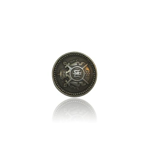 Antique Cross Metal Button