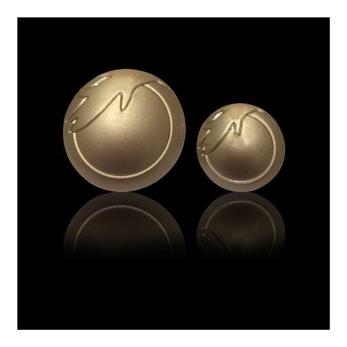 Mat Gold Metal Button