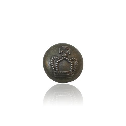 Crown Designed Metal Button