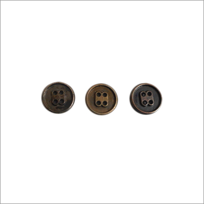 Four Hole Metal Button