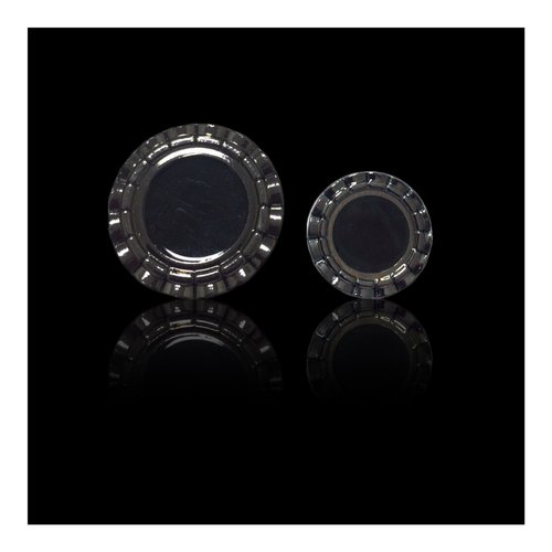 Gun Metal Circular Button
