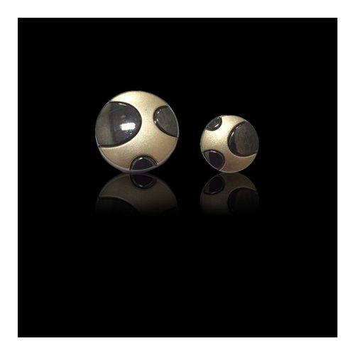 Black Gold Metal Button