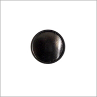 Solid Black Metal Button
