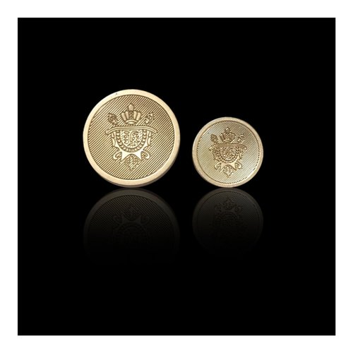 Gold Circular Metal Button