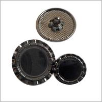 Mettalic Black Button