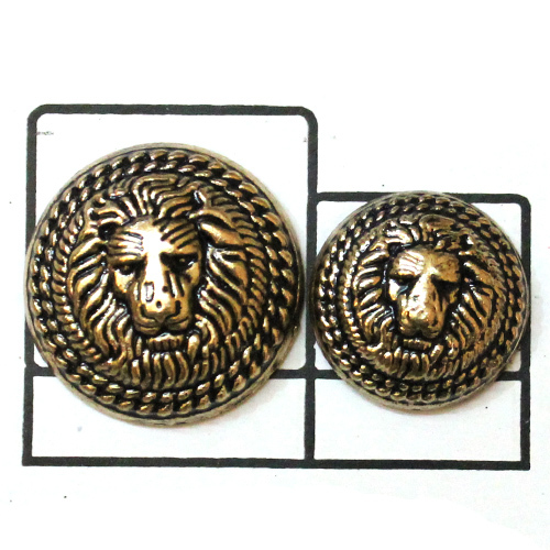 Metallic Lion face Metal Button