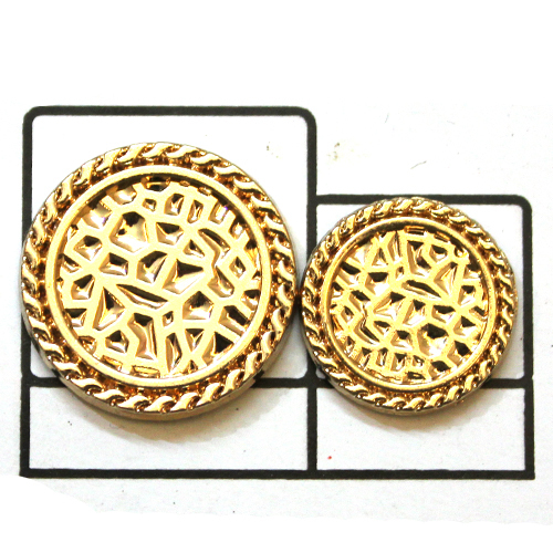 Yellow gold plating Metal Button