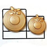 Golden Cap style Metal Button