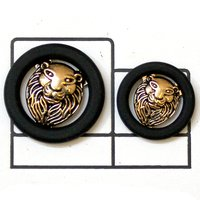 lion face Metal Button