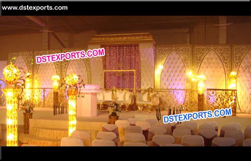Wedding Tufted Panel Lighting Stage