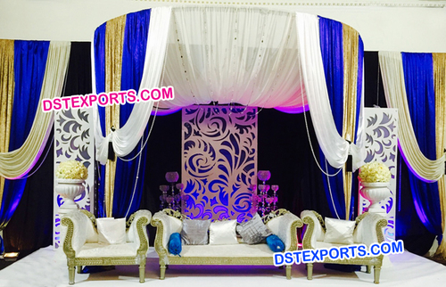 English Wedding Modern Panel Style Stage