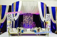 English Wedding Modern Panel Style Stage