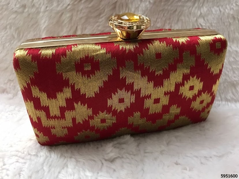 Elegant And Stylish Box Clutch With Classy Sling