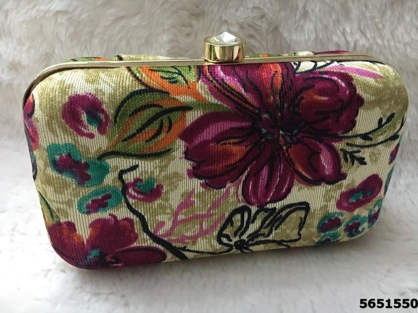 New Designer Floral Box Clutch