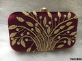Adorable Embroidered Box Clutch For Party wear