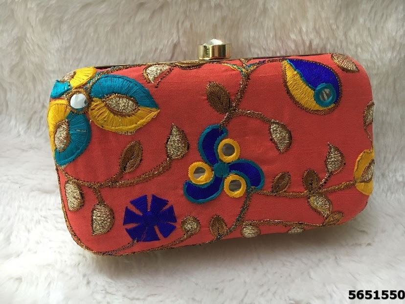 Beautiful And Fancy Box Clutch With Long Sling