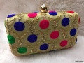 Stunning Hand Embroidered Box Clutch With Sling