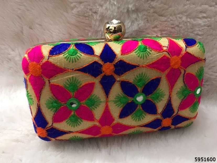 Ethnic Box Clutches