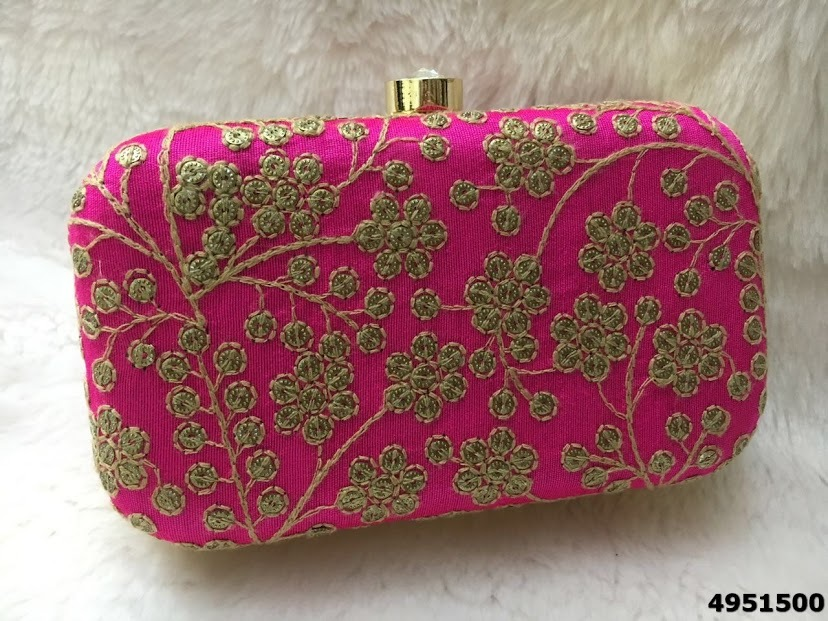 Elegant And Stylish Embroidered Box Clutch