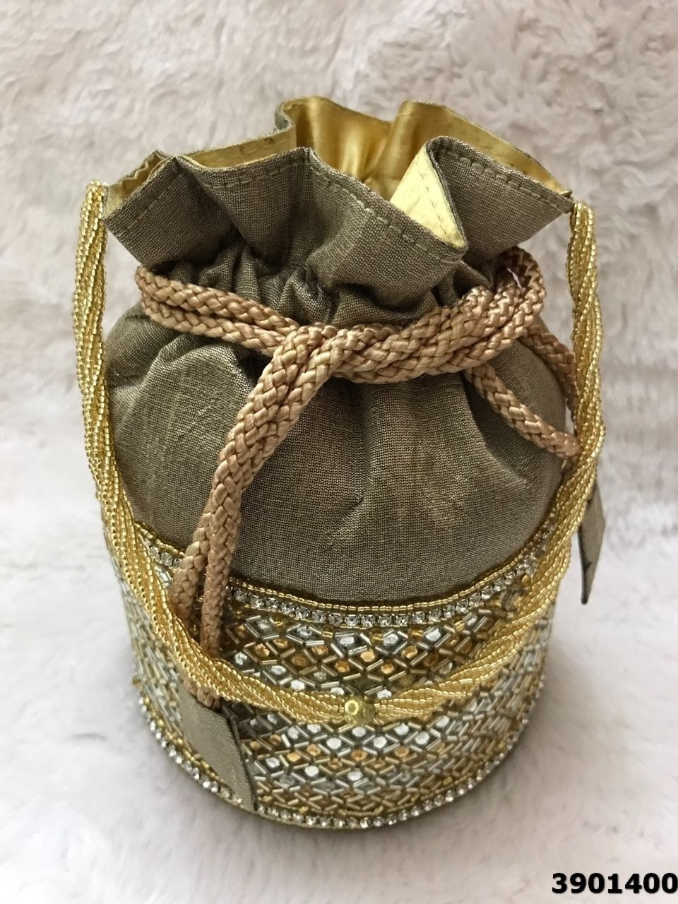 Raw Silk Potli Bags