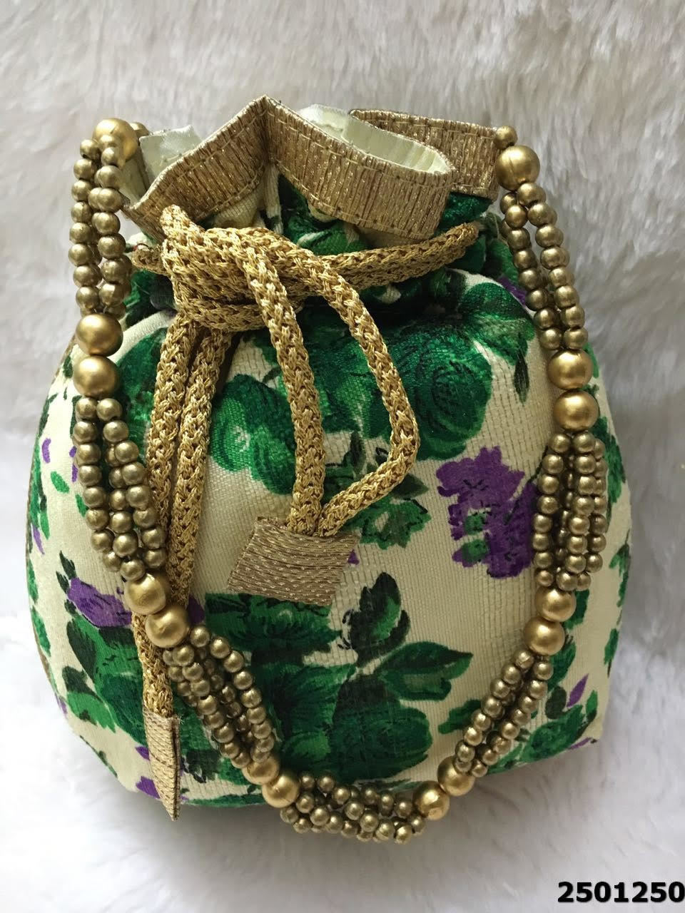 Sensational Floral Print Potli Bag