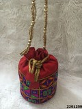 Beautifully Designed Silk Potli Bags With Sling