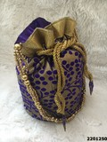 Elegant Stylish Potli Bag With Beaded Sling