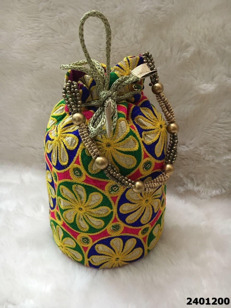 Designer Embroidered Potli Bag
