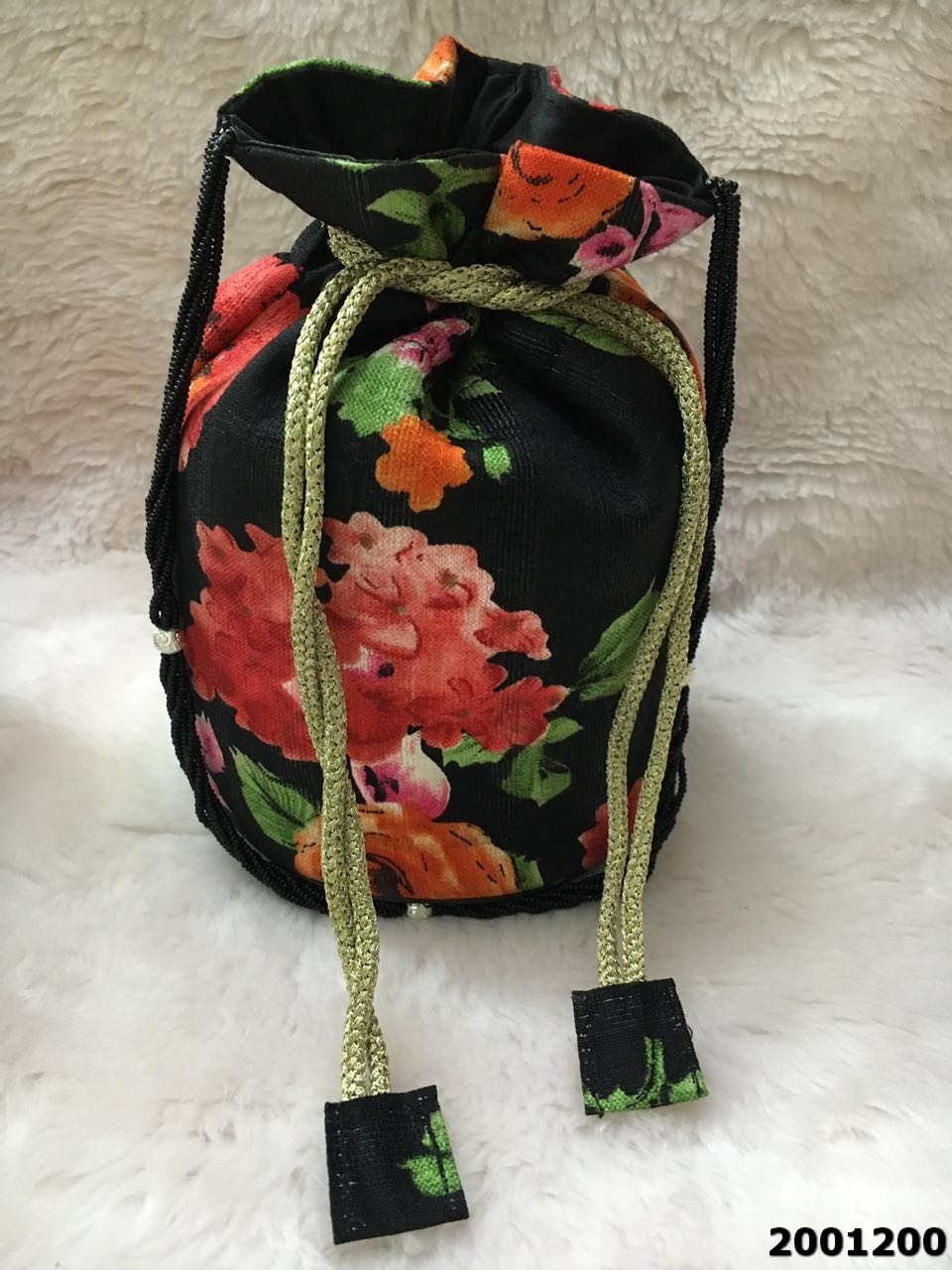 Adorable Elegant Floral Print Potli Bags