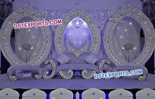 Fantastic Wedding Silver Stage Furniture