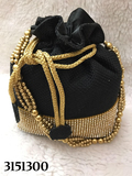 Elegant And Stylish Stone Work Jute Potli Bag