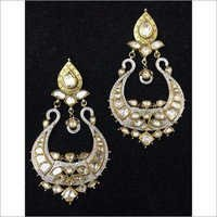 Gold Polki Diamond Chand Bali