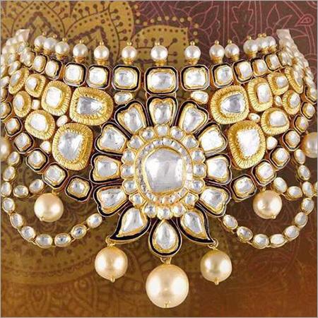 Gold Kundan Jadau Necklace