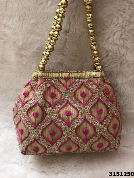 Designer Hand Embroidered Potli Bag