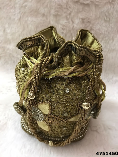 Beautifully Designed Bridal Heavy Work Potli Bags