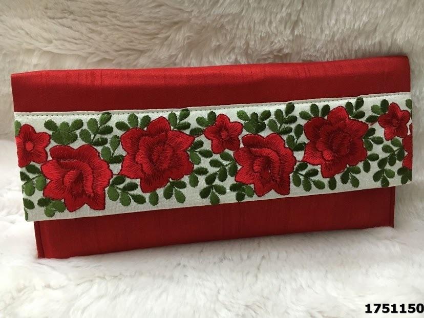 Printed Silk Floral Designer Bag