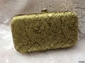 Superior Design Brocade Box Clutch With ChainSling