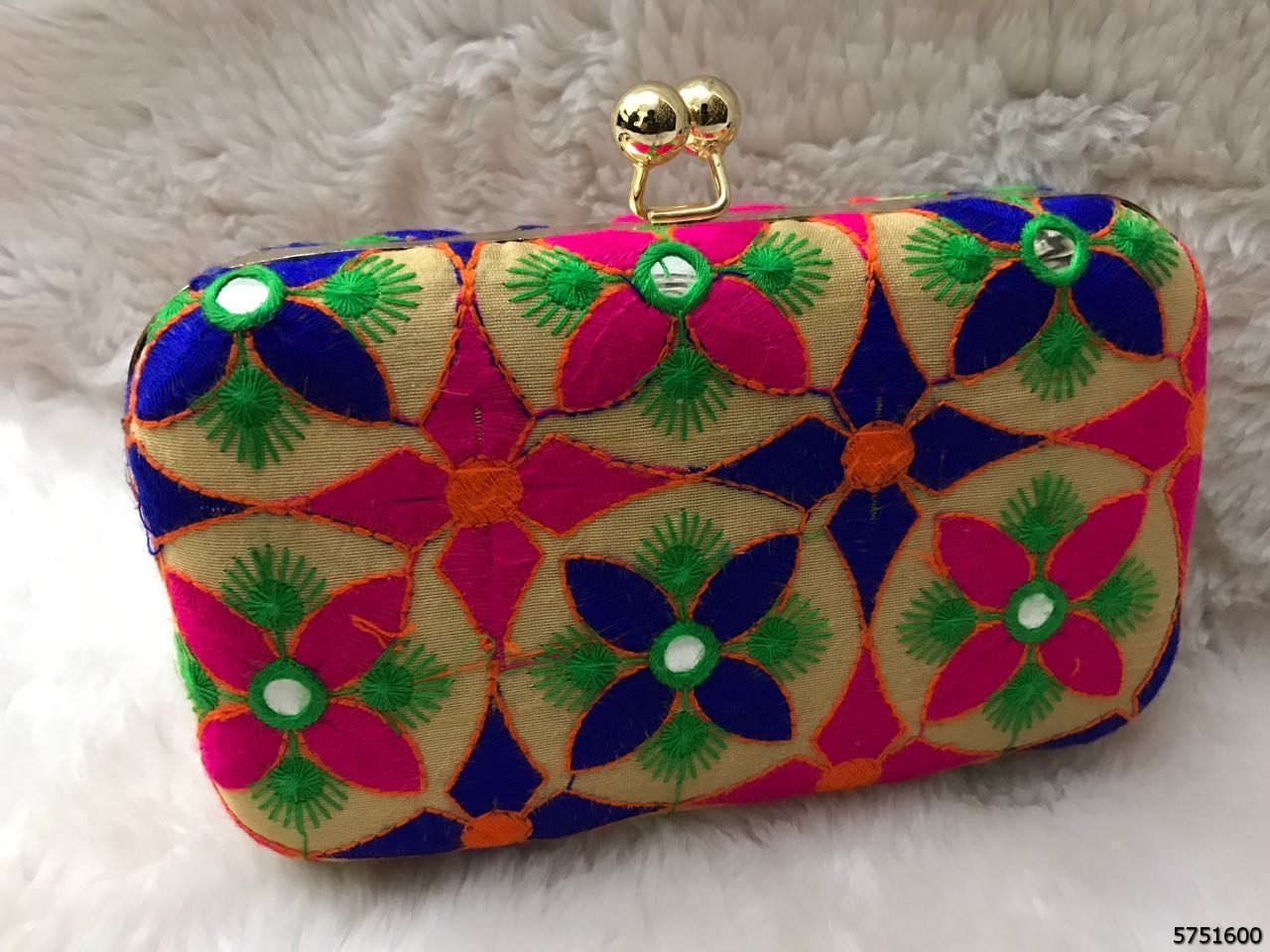 Beautiful And Exciting Colorful Pattern Box Clutch