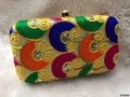Charming And Unique Embroidery BoxClutch WithSling