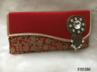 Adorable Silk Clutch Bags/Evening Bag