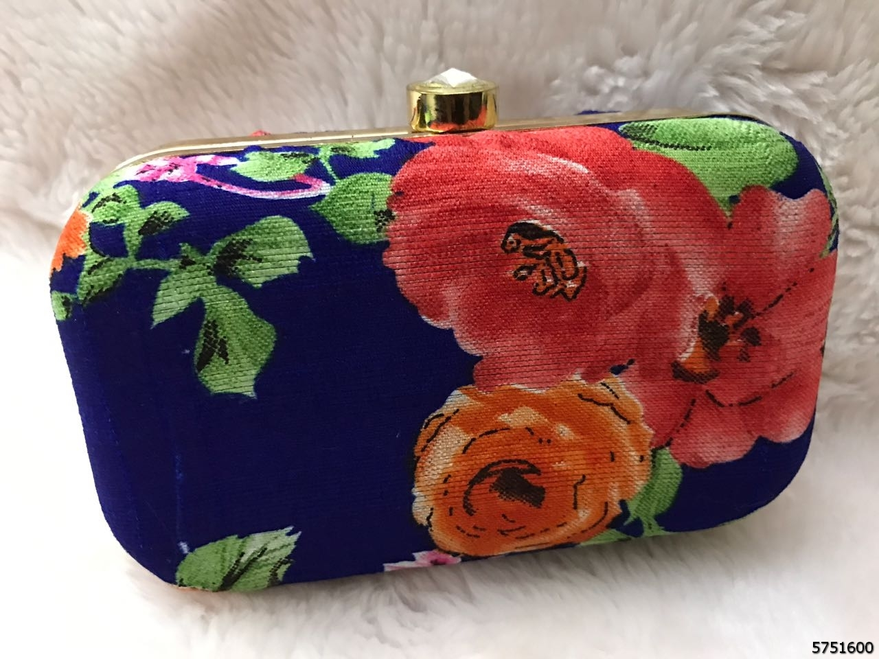 Trendy And Stylish Floral Print Box Clutch