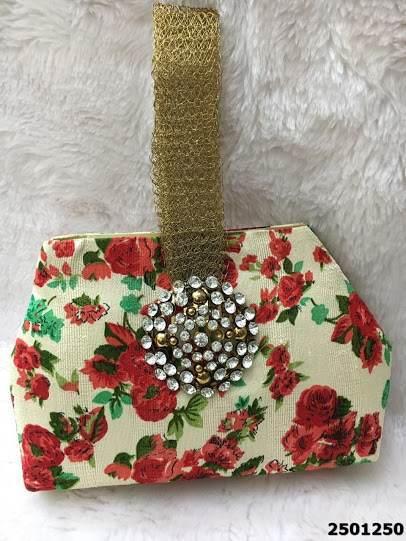 Beautifully Designed Floral Print Clutchbag