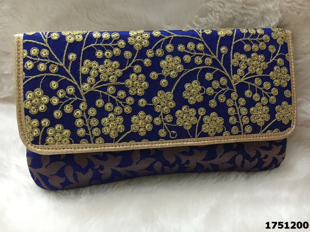 Contemporary Hand Embroidery Evening Clutch Bag