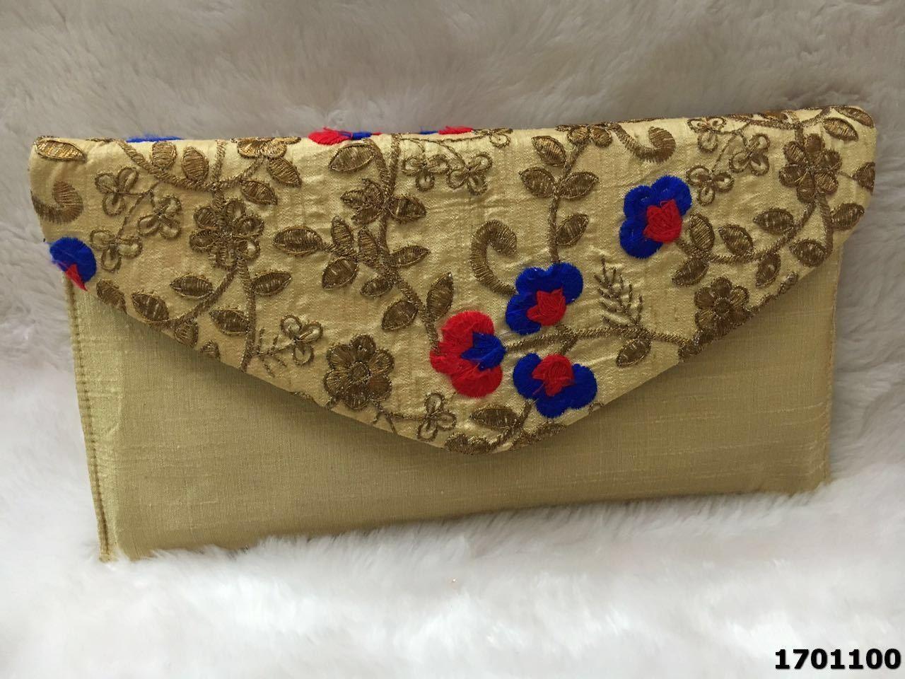 Latest Floral Design Evening Clutch Bag