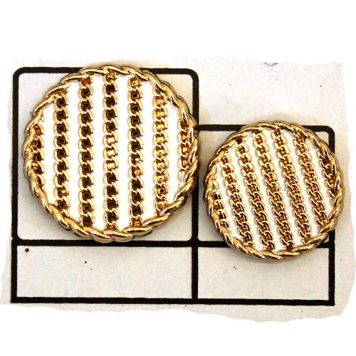 golden Circular Metal Button