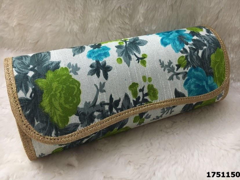 Designer Floral Printed Evening Clutch Bag