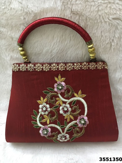 Latest Floral Design Hand Embroidery Handbags